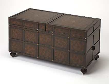 Beau Butler Specality Company BUTLER 3857070 DENNARD FAUX LEATHER STORAGE COFFEE  TABLE