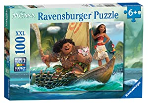 Ravensburger Disney Moana One Ocean One Heart 100 Piece Jigsaw Puzzle for Kids – Every Piece is Unique, Pieces Fit Together Perfectly