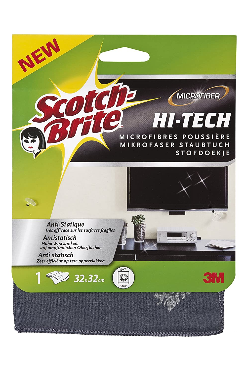 Scotch Brite Microfibra High-Tech Spolverino, 320 x 320 mm 3M Deutschland GmbH W950/12