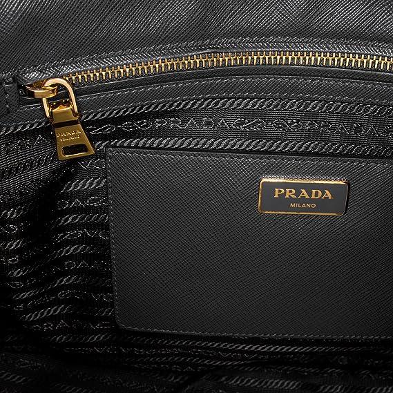 5a1655606f17 Amazon.com  Prada Women s Saffiano Lux Executive Tote Bag Black  Clothing
