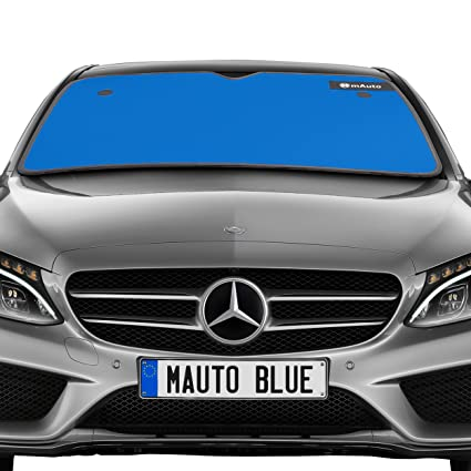mAuto UV Deflector Reversible Double Layer Car Windshield Sun Shade with Suction Cup