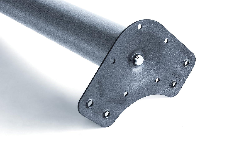 Pie de mesa regulable /Ø 80 x 870 mm de acero n/íquel satinado Emuca 2037651
