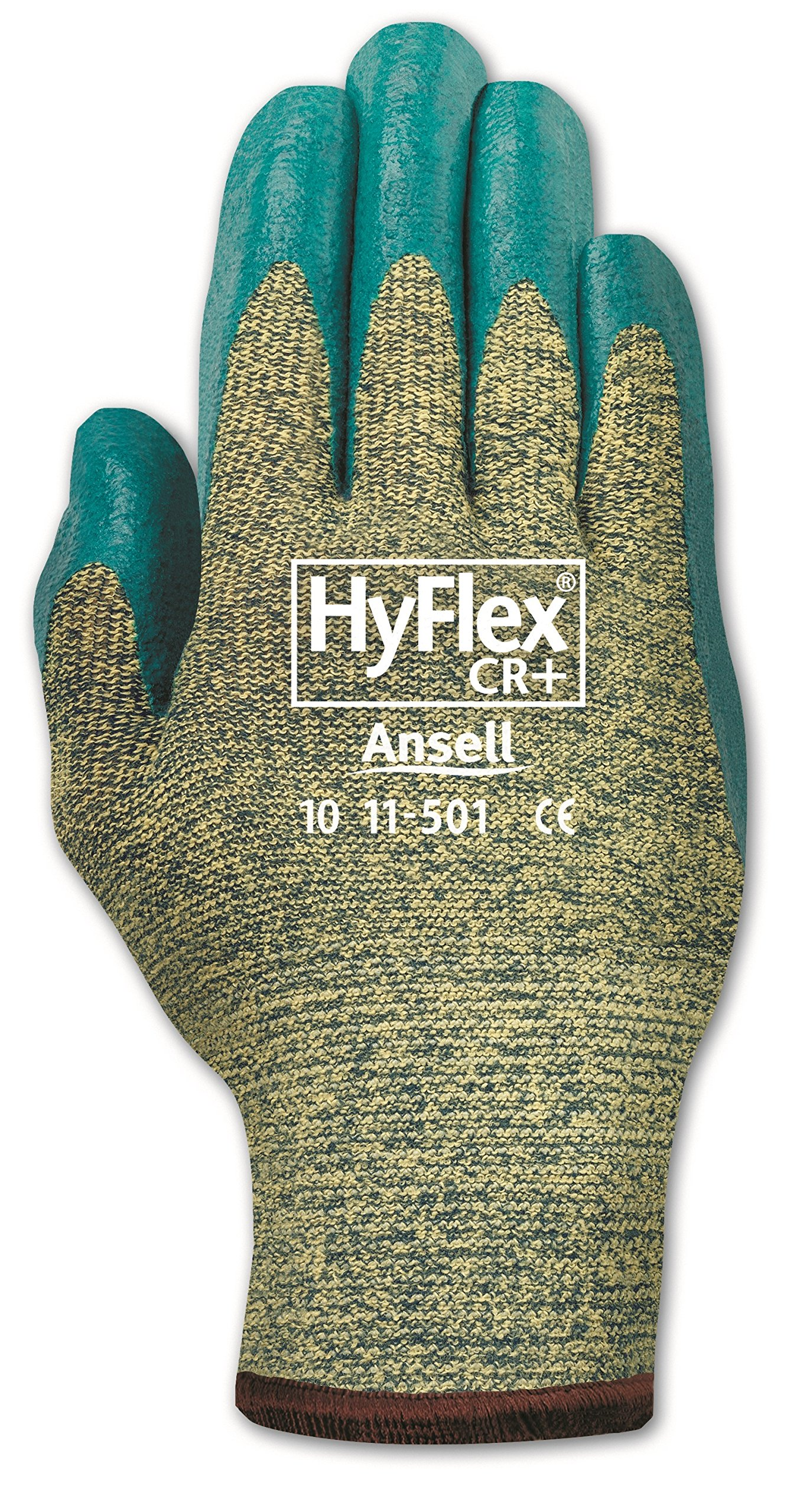Ansell HyFlex 11-501 Kevlar Glove, Cut Resistant, Blue Foam Nitrile Coating, Knit Wrist Cuff, Small, Size 7 (Pack of 12) by Ansell (Image #3)