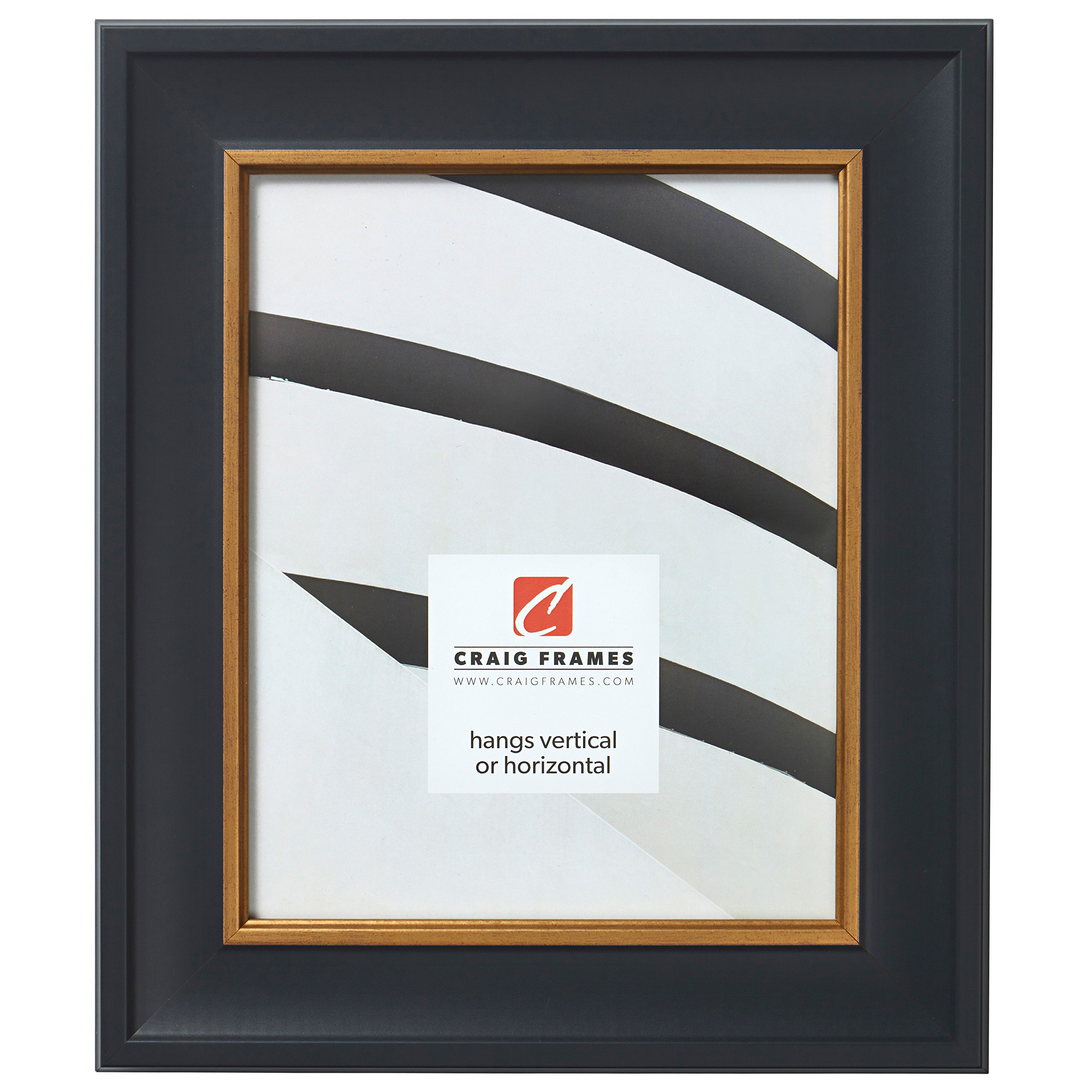 Craig Frames Martin Picture Frame, 4 x 6 Inch, Black Velvet with Gold
