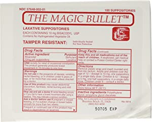 Magic Bullet Suppository Part No. CCMB100 Concepts in Confidence MMED-CICCCMB100