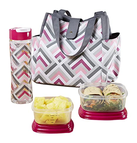 bd798bf6f90 Image Unavailable. Image not available for. Color: Fit & Fresh Westport Insulated  Lunch Bag Kit with Container Set ...