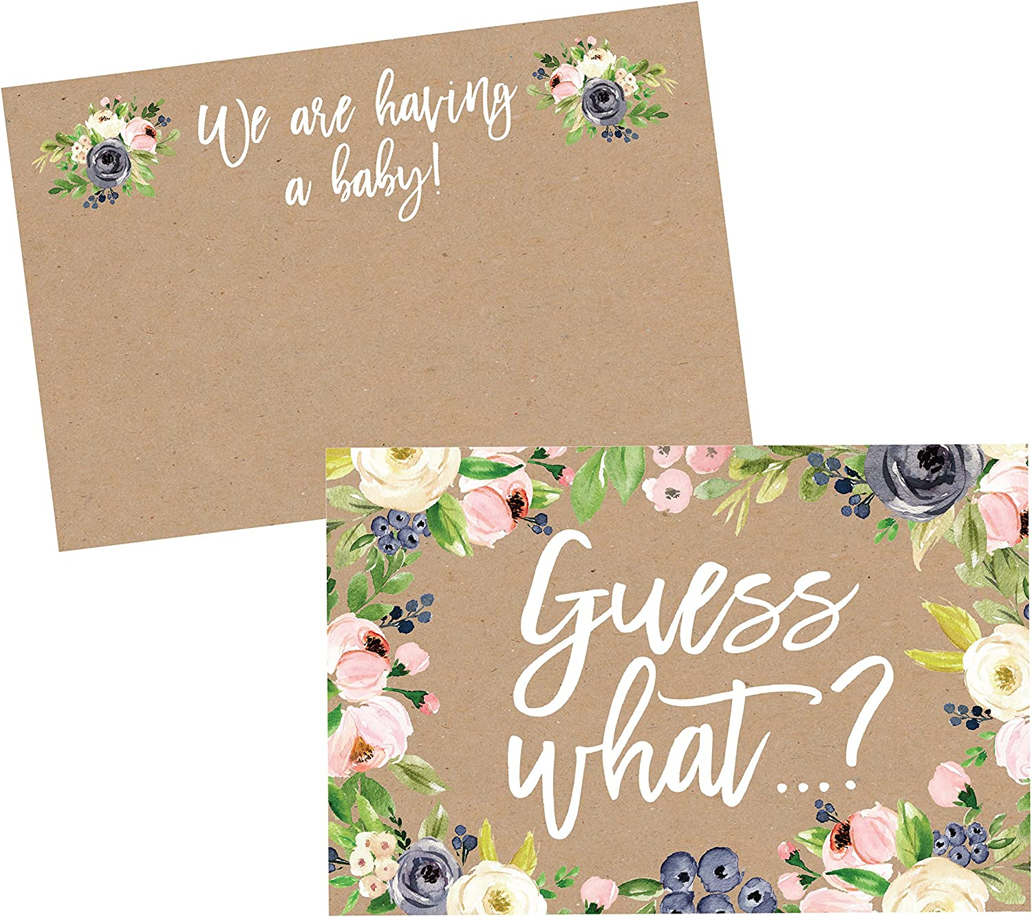 Pregnancy announce to grandma and grandpa with touching text Baby Announcement Postcard Emotional Pregnancy Announcement