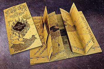 Karte Des Rumtreibers.Harry Potter Karte Des Rumtreibers Replik 21cm X 39 4cm Amazon De