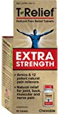 T-Relief Extra Strength Pain Relief Tablets for Joint, Back and Muscle Pain and Stiffness - Homeopathic Formula with Arnica - 90 Tablets