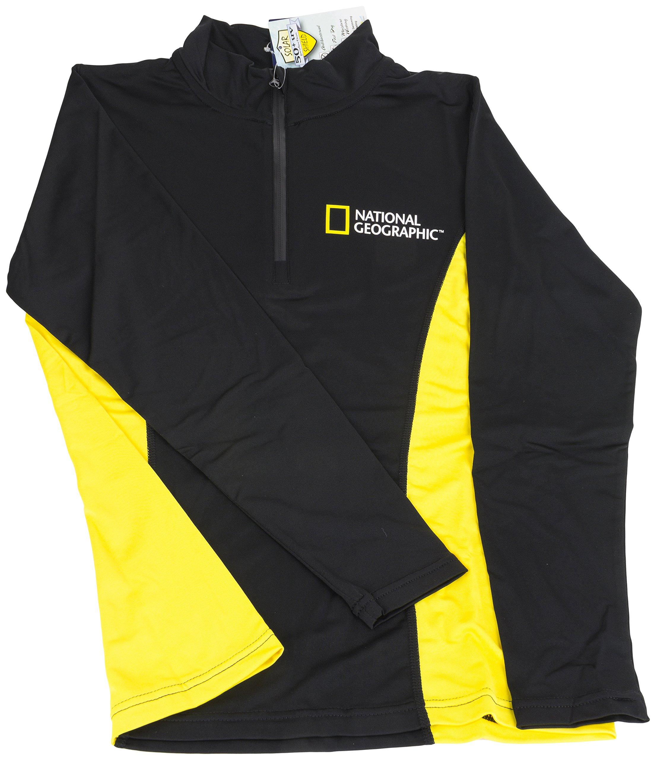National Geographic Snorkeler 6283 Long Sleeve Rash Ladies Classic Black/Yellow Medium, Black