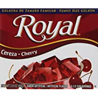 Royal Bilingual Gelatin, Fat Free Dessert Mix, Cherry (12 - 2.8 oz Boxes)