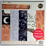 Craft Smith WINTER HYMNAL Paper Pad 48 Printed Sheets 12 x 12 Scrapbook