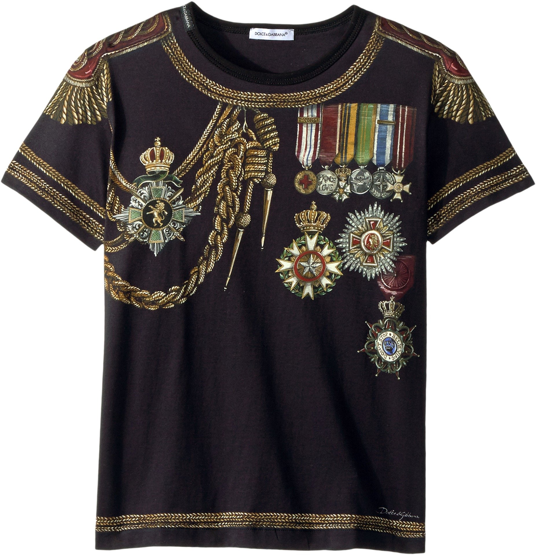 Dolce & Gabbana Kids  Baby Boy's Medallion T-Shirt (Toddler/Little Kids) Black 2T Toddler