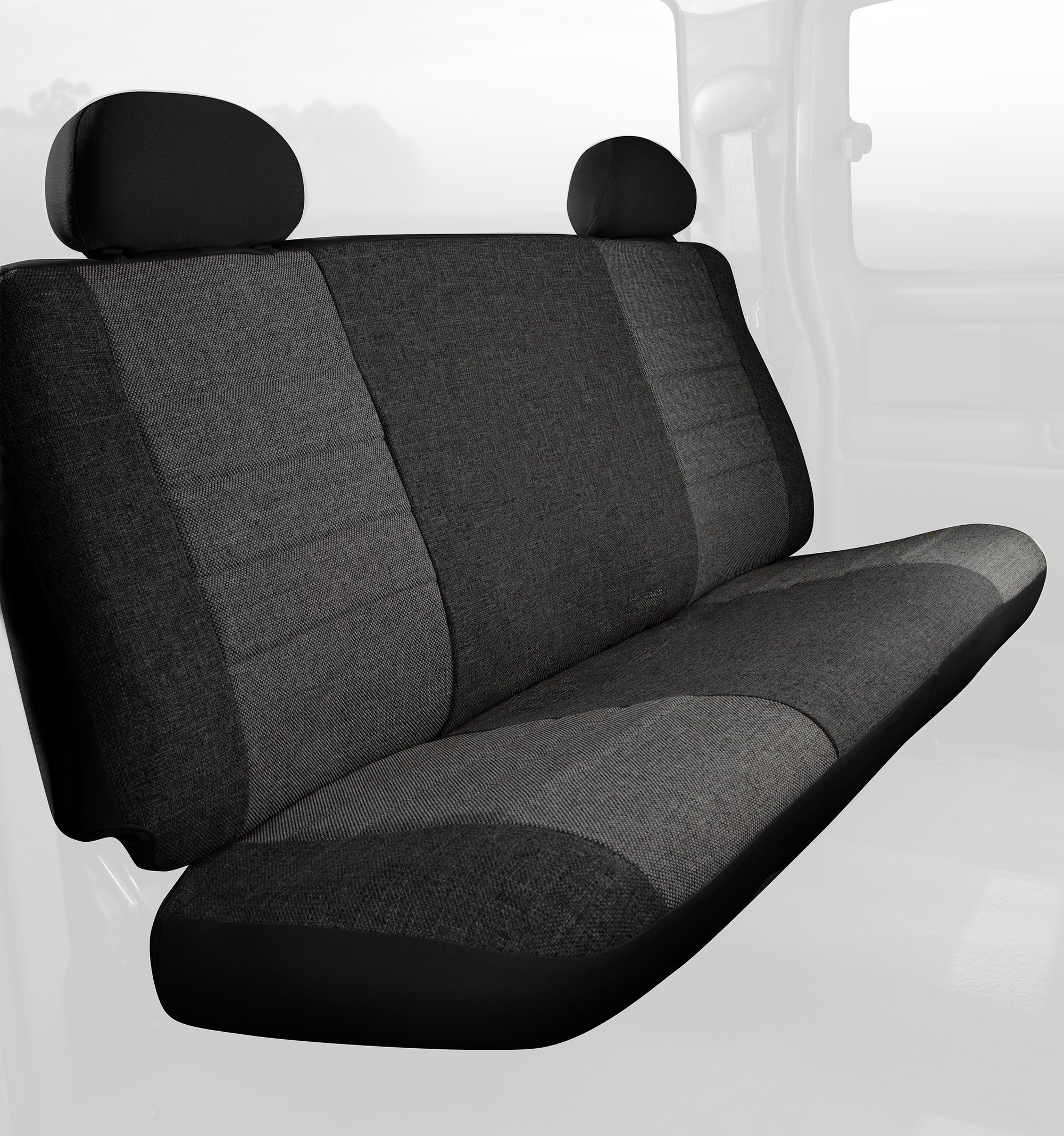 Fia OE32-95 CHARC Custom Fit Rear Seat Cover Bench Seat - Tweed (Charcoal) by FIA (Image #1)