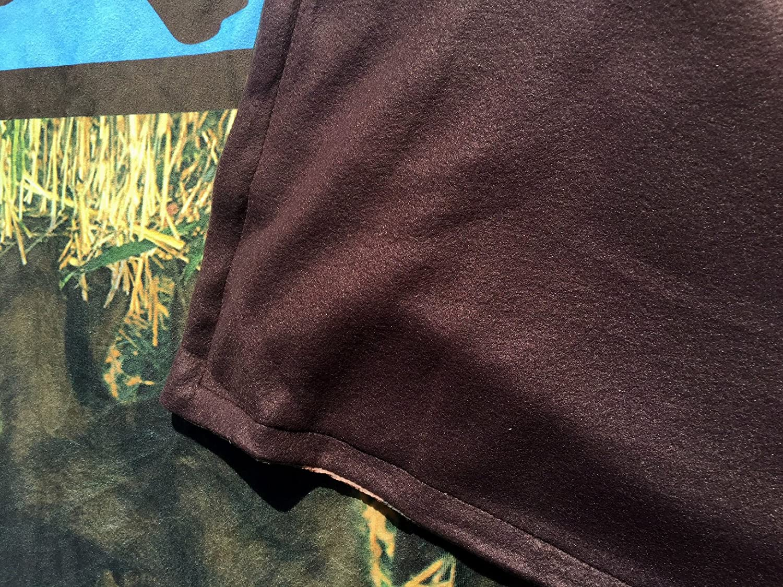 Color Ur Home Dog Throw Blanket 50 x 60 Chocolate Labrador Brown Labrador Theme Photoreal Printed Short Fur Throws with Fleece Reverse
