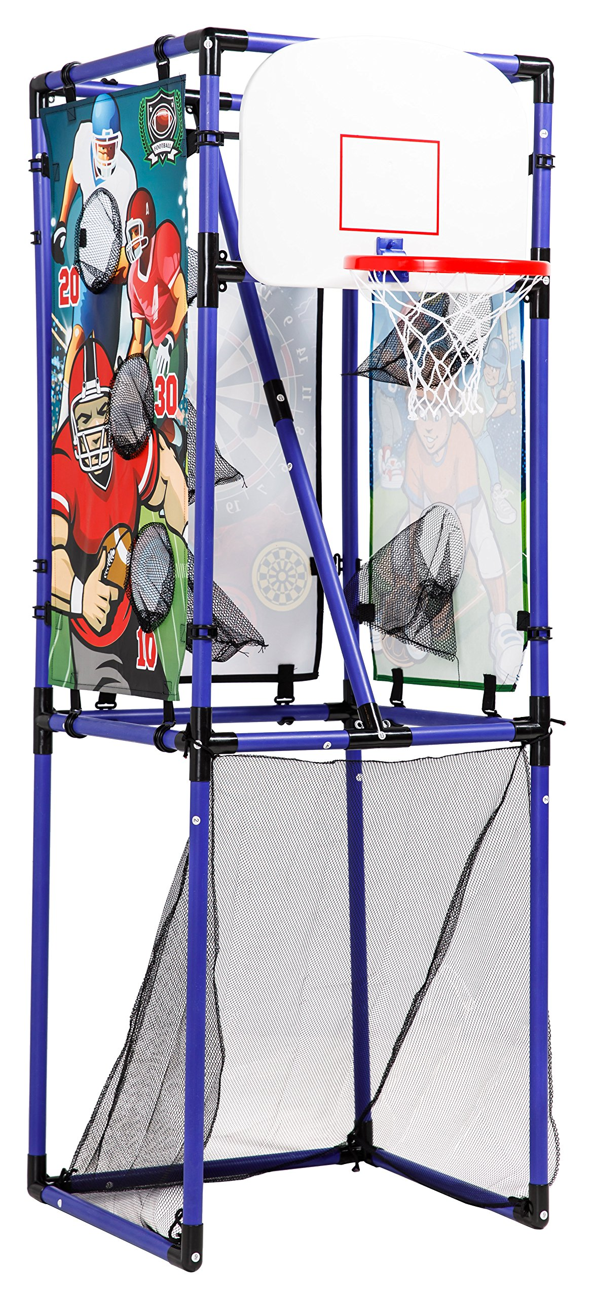 Sport Squad 5-in-1 Multi-Sport Kid's Game Set – Features Baseball, Basketball, Football, Soccer, Darts – Great for Indoor and Outdoor Play by Sport Squad (Image #1)
