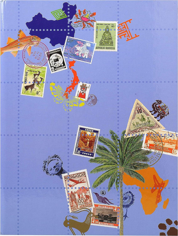 Álbum de sellos postales 16 páginas Globe Trotter – 22,5 x 30,5 cm: Amazon.es: Oficina y papelería