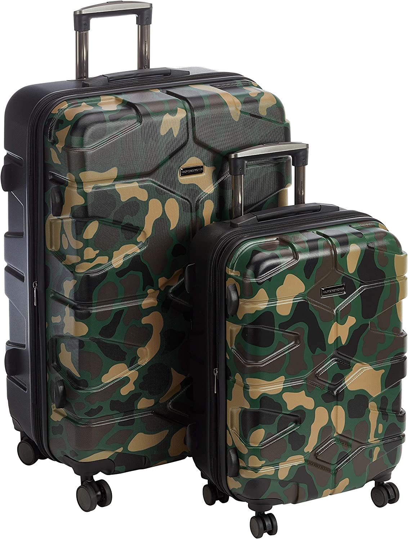 HAUPTSTADTKOFFER - X-Kölln - Juego de 2 Trolleys 55+76 cm, maletas expandibles, TSA, Camuflaje