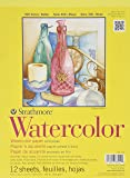 Strathmore 360109 Cold Press 140-Pound 12-Sheet Strathmore Watercolor Paper Pad, 9 by 12-Inch
