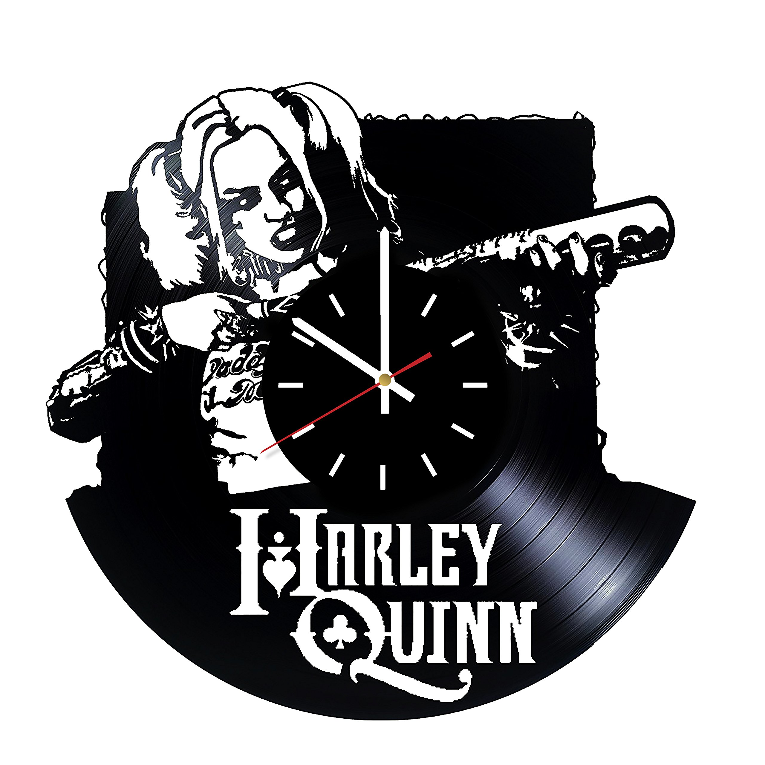 Harley Quinn Suicide Squad Vinyl Record Wall Clock - Living room or Bedroom wall decor - Gift ideas for friends, boys, men, women, girls – Movie Unique Art Design