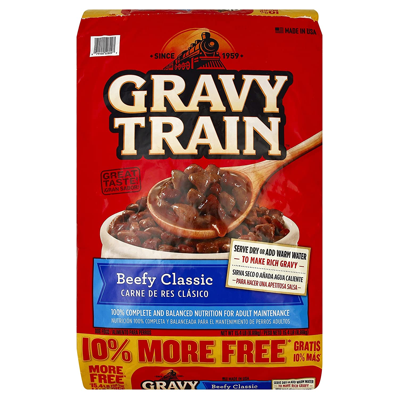 Amazon.com: Gravy Train Beef Classic Bonus Dry Dog Food, 15.4 Lb (1): Pet Supplies