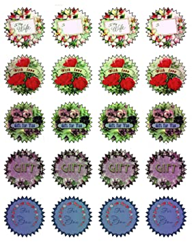 Diseño de etiqueta pegatinas (cada 1,75 unidades 20 pcs) regalo de