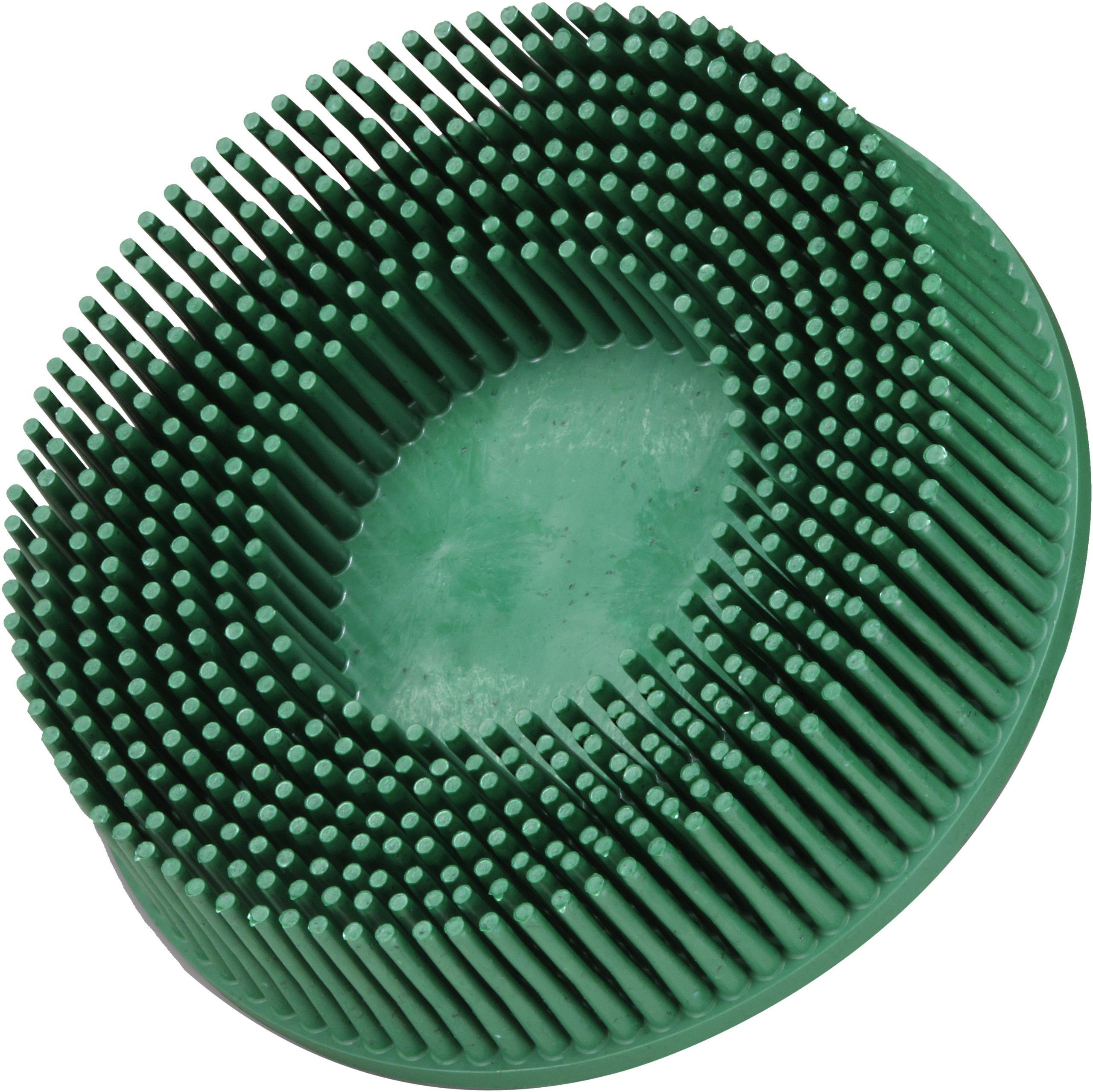 Scotch-Brite(TM) Roloc(TM) Bristle Disc, Ceramic, 15000 rpm, 3 Diameter, 50 Grit, Green (Pack of 10)