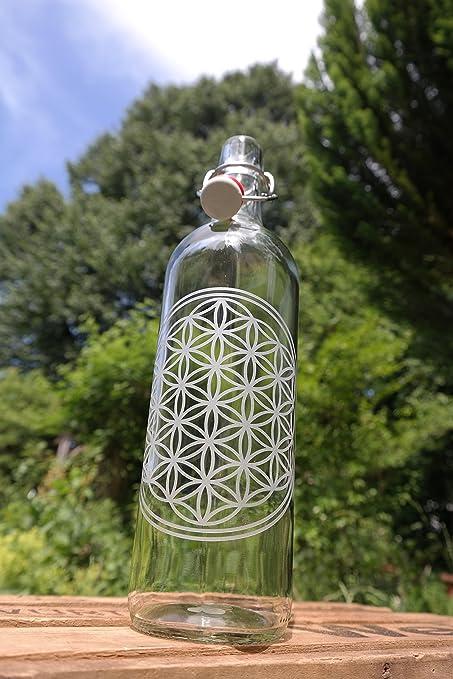 freiglas 1,0l Botella de cristal * flor de la Vida * ~ fabricado en