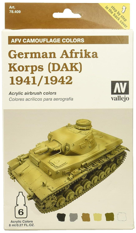 Vallejo Model Color Armour Colour Set Afv German Afrika Korps 1941