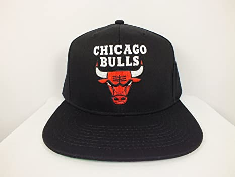 97da3a08fcd Image Unavailable. Image not available for. Color  Adidas Chicago Bulls NBA  Authentic Flat Bill ...