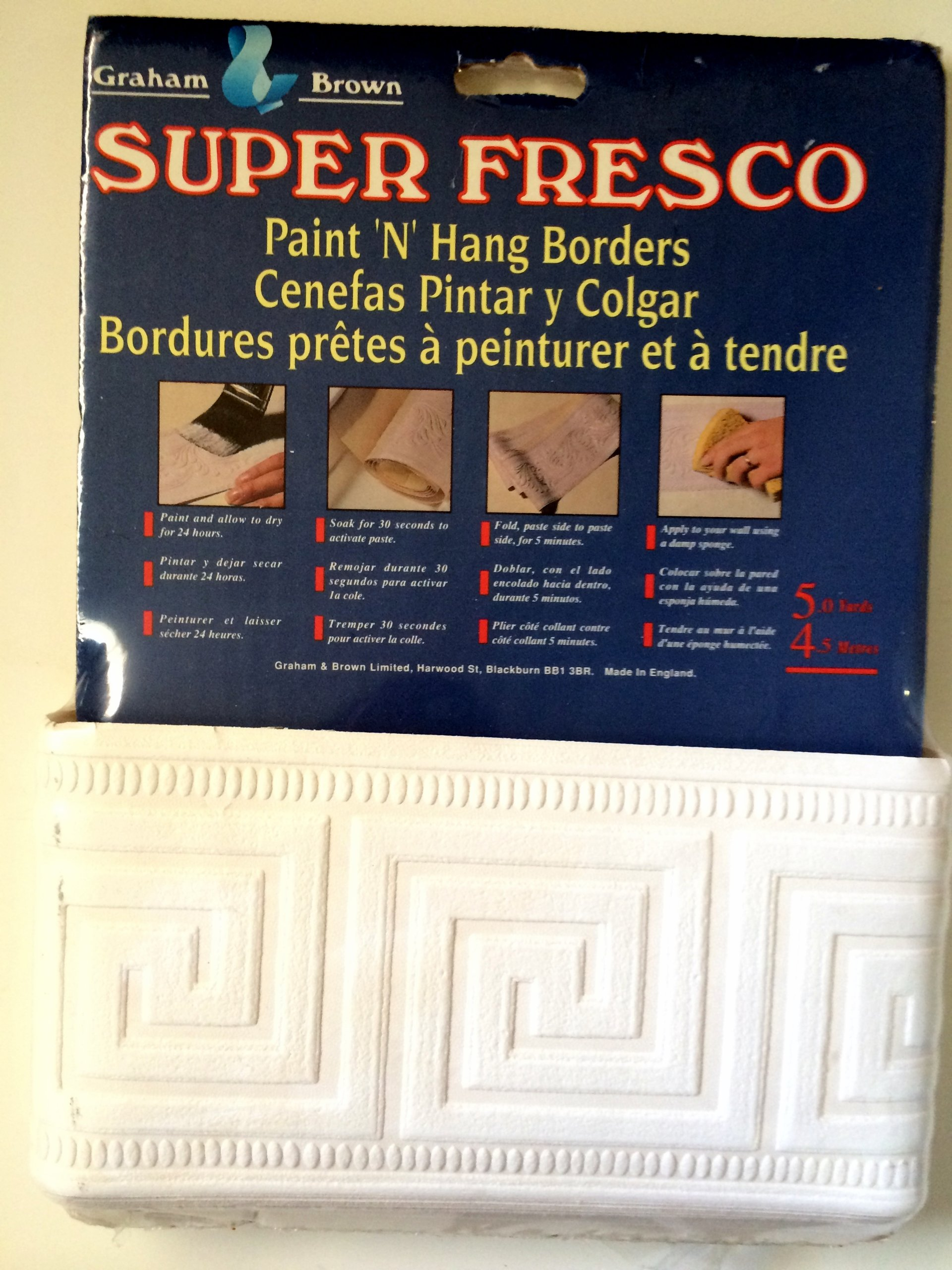 Super Fresco Paint 'N' Hang Border - Greek Key