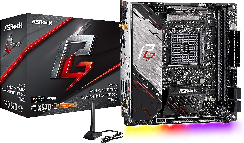 ASRock X570 Phantom Gaming-ITX/TB3 Mini ITX Thunderbolt 3 AMD Motherboard Model X570 Phantom GAM ITX