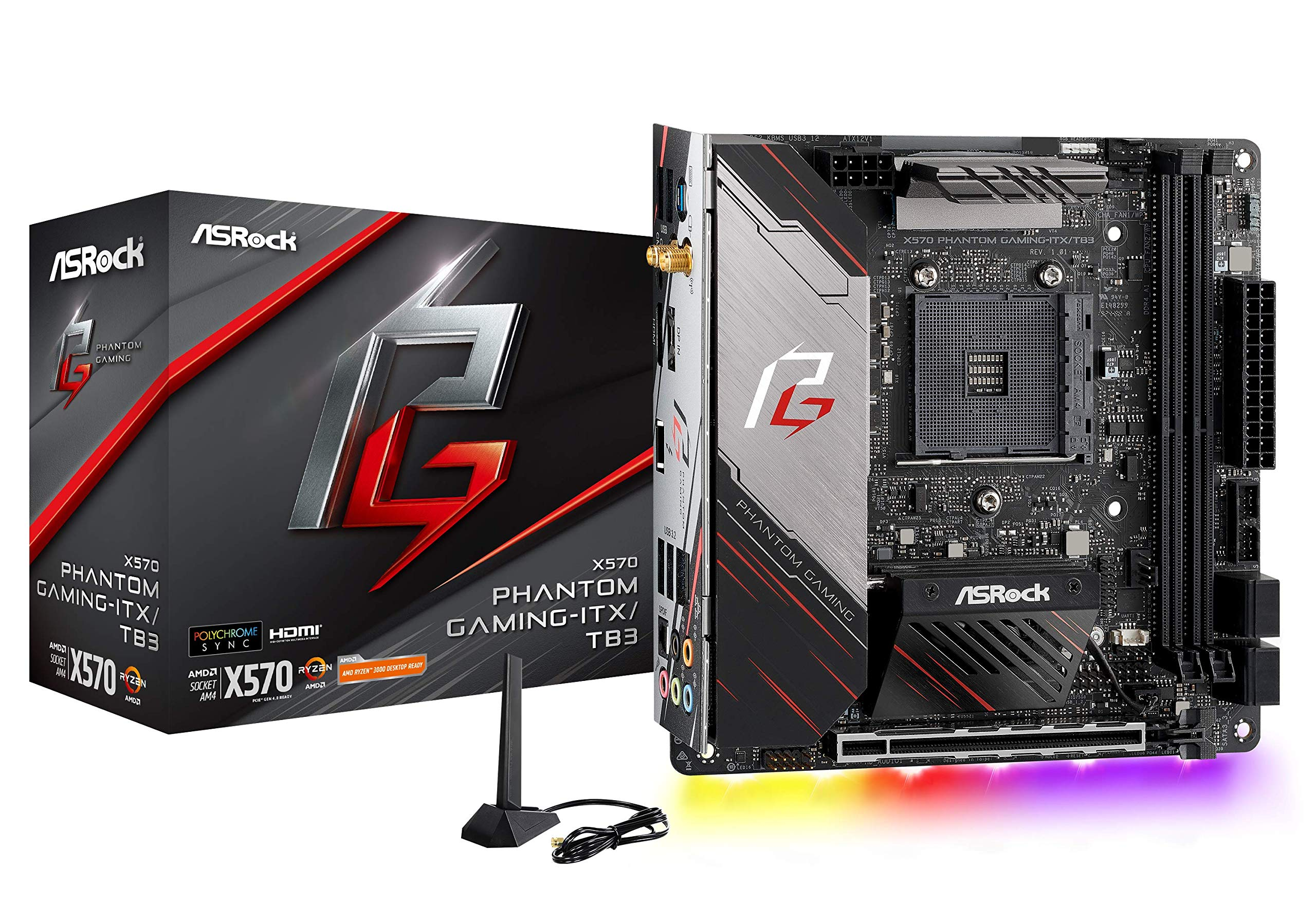 Asrock X570 Phantom Gaming-itx/tb3 Mini Itx Thunderbolt 3...