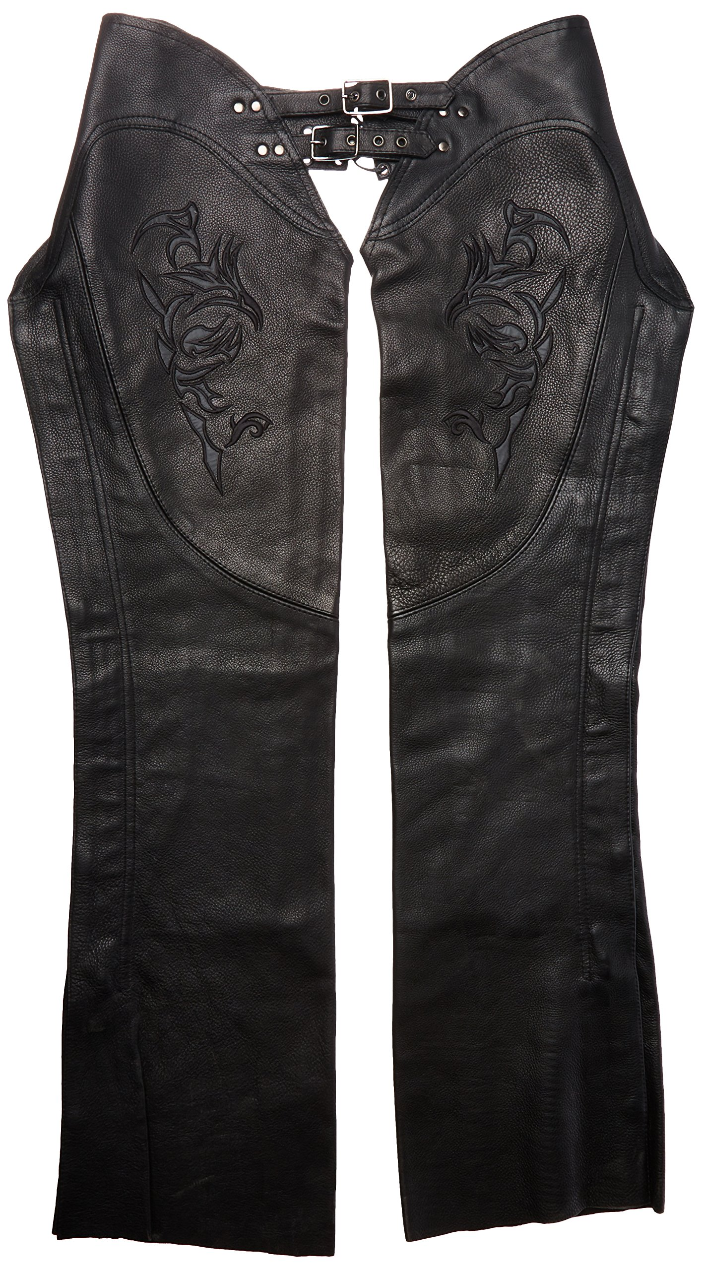 Milwaukee Women's Leather Chaps (Black, Large)