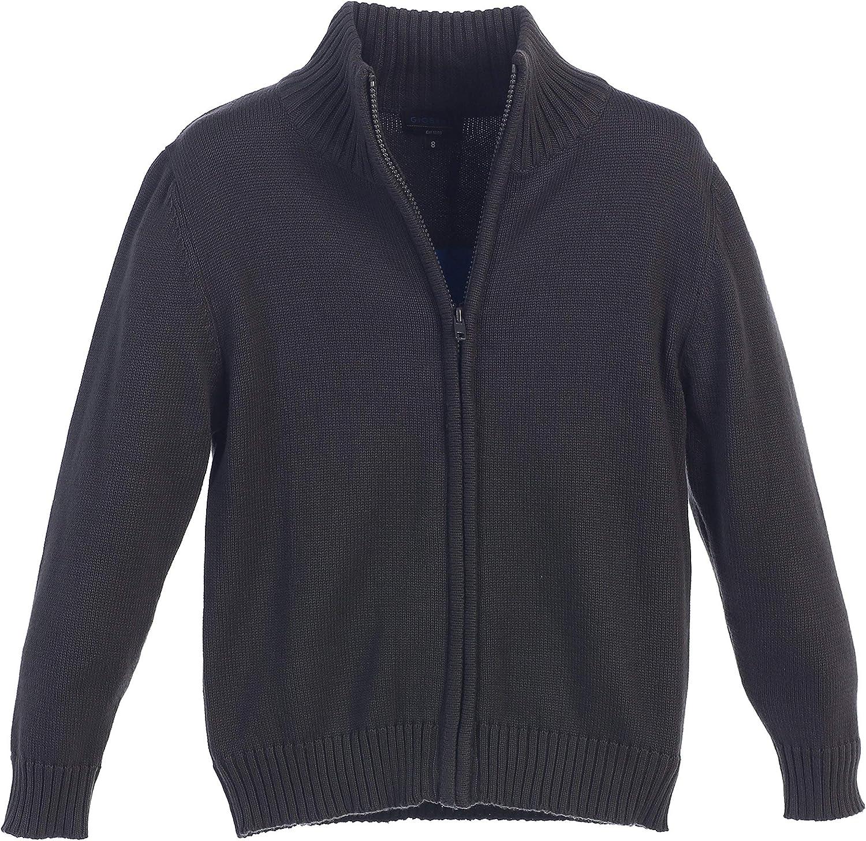 Gioberti Boy's Knitted Full Zip 100% Cotton Cardigan Sweater