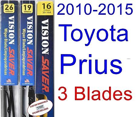 Amazon.com: 2010-2015 Toyota Prius Wiper Blade (Passenger) (Saver Automotive Products-Vision Saver) (2011,2012,2013,2014): Automotive
