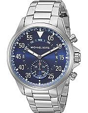Michael Kors Reloj Unisex de Analogico con Correa en Chapado en Acero Inoxidable MKT4000