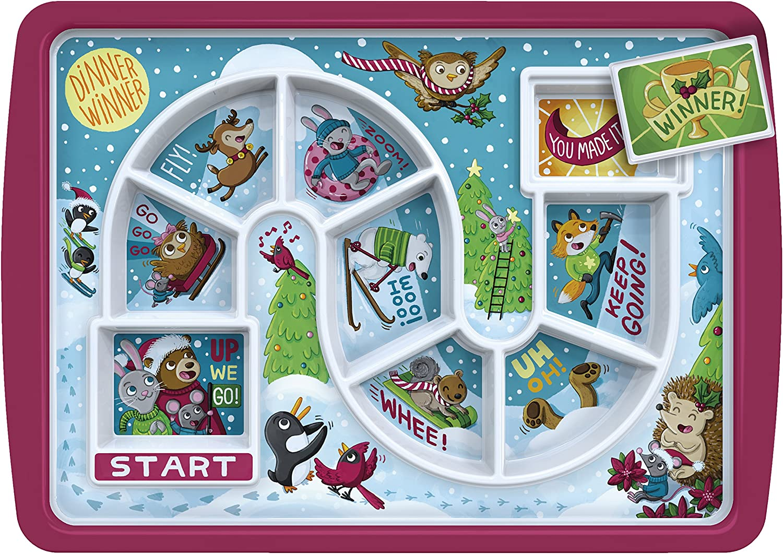 Fred DINNER WINNER Kid's Dinner Tray, Outer Space (Christmas Dinner)