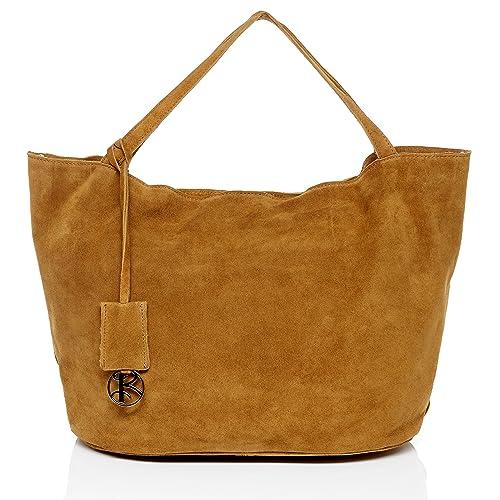 d664de237c BACCINI® Borsa a mano vera pelle SELMA grande borsetta manico borsa a  spalla donna cuoio beige: Amazon.it: Scarpe e borse