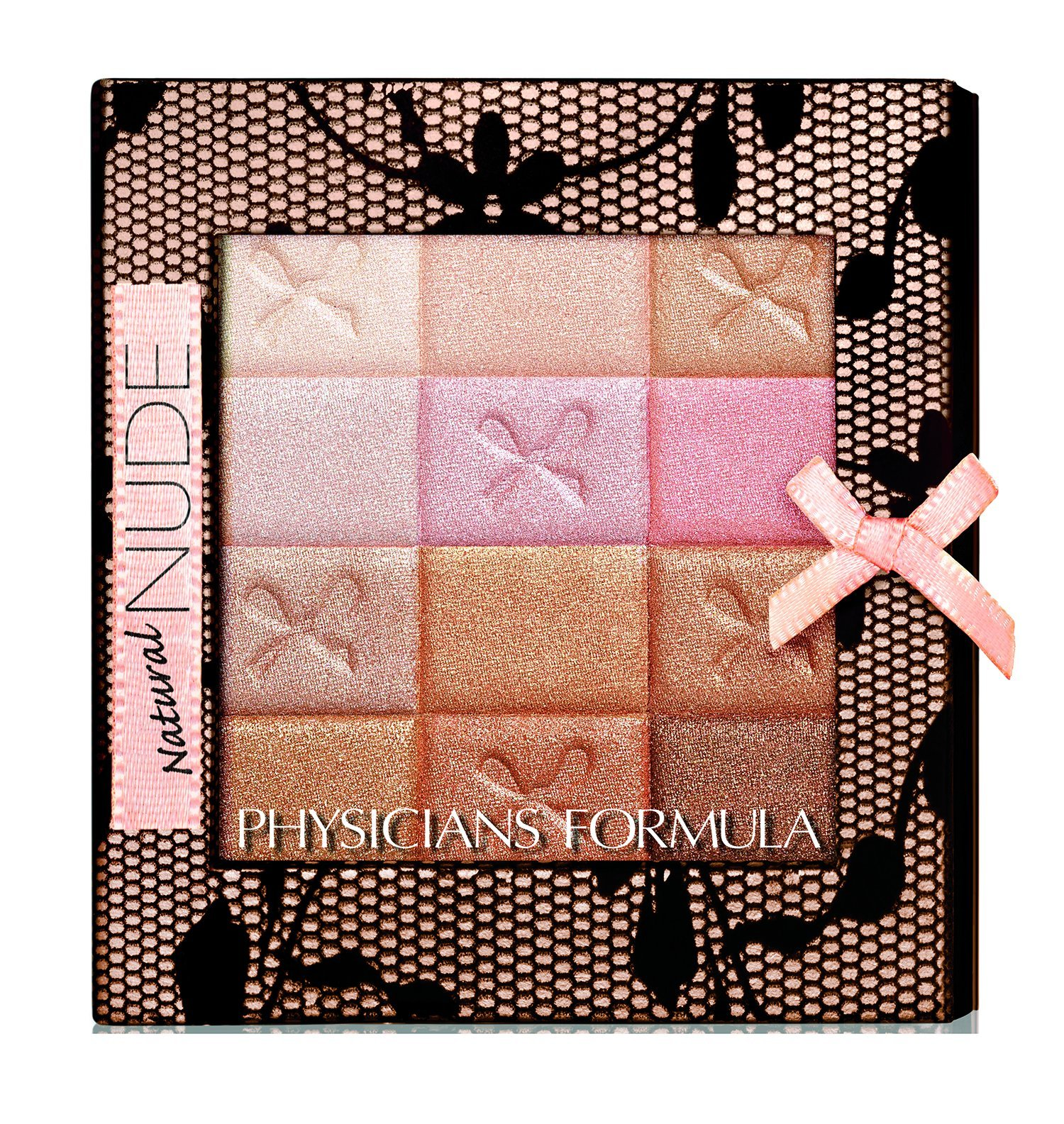 Physicians Formula Shimmer Strips All-In-1 Custom Nude Palette For Face & Eyes - Natural Nude - 0.26 oz