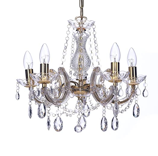Marco tielle marie therese style chandelier with crystal glass marco tielle marie therese style chandelier with crystal glass column body acrylic arms beads aloadofball Image collections