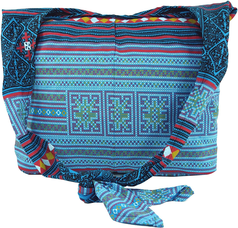 Guru Shop Sadhu Bag, Schulterbeutel, Hippie Tasche Rot, HerrenDamen, Baumwolle, 30x42 cm, Bunter Stoffbeutel