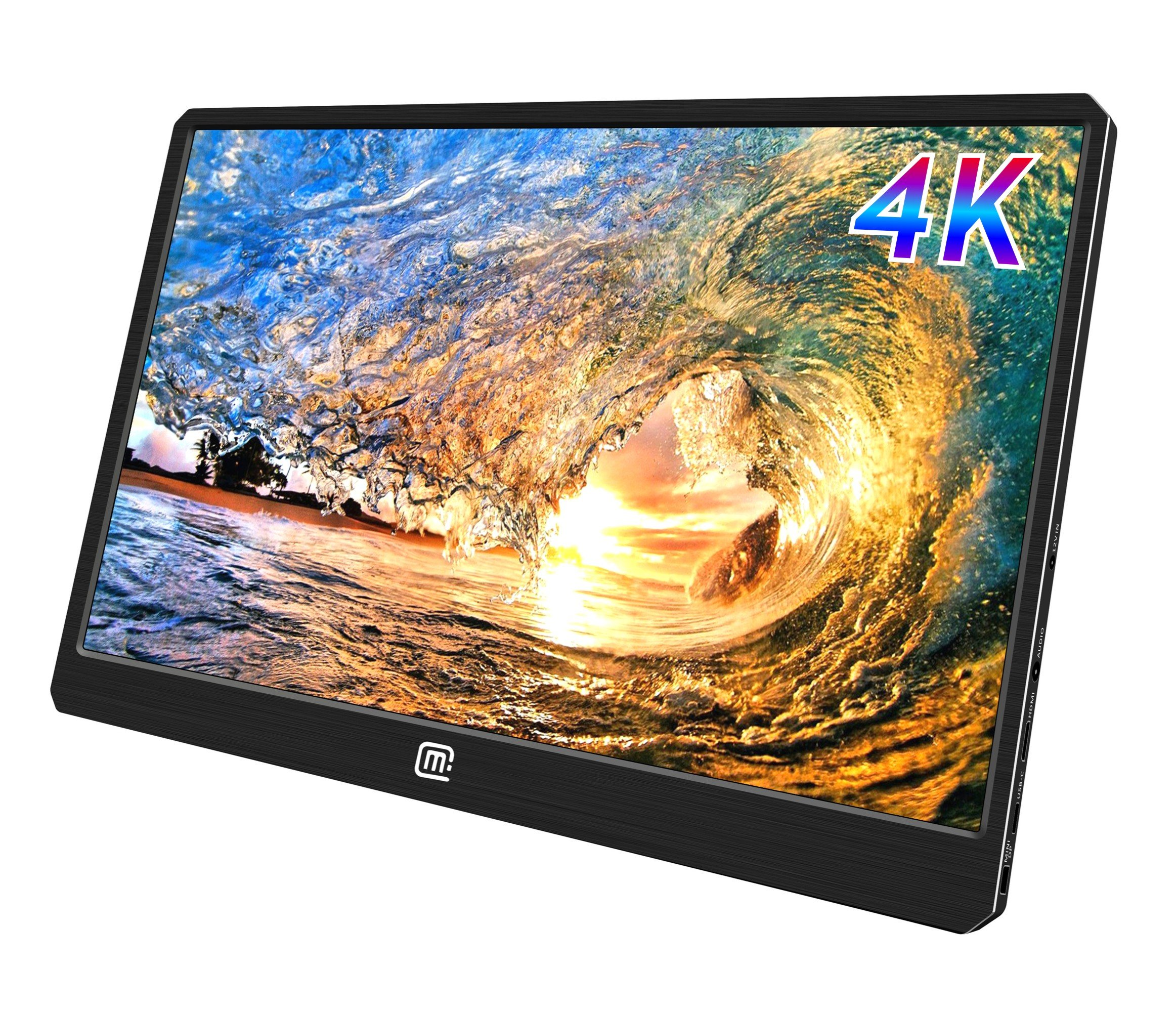 MageDok 4K Portable Monitor with USB Type-C /HDMI/DisplayPortInput,Ultra UHD 3840x2160 IPS Dispaly,100% Adobe,Ultralight Weight 2bls,Slim 3.7 Inch,built-in Speakers,Mountable