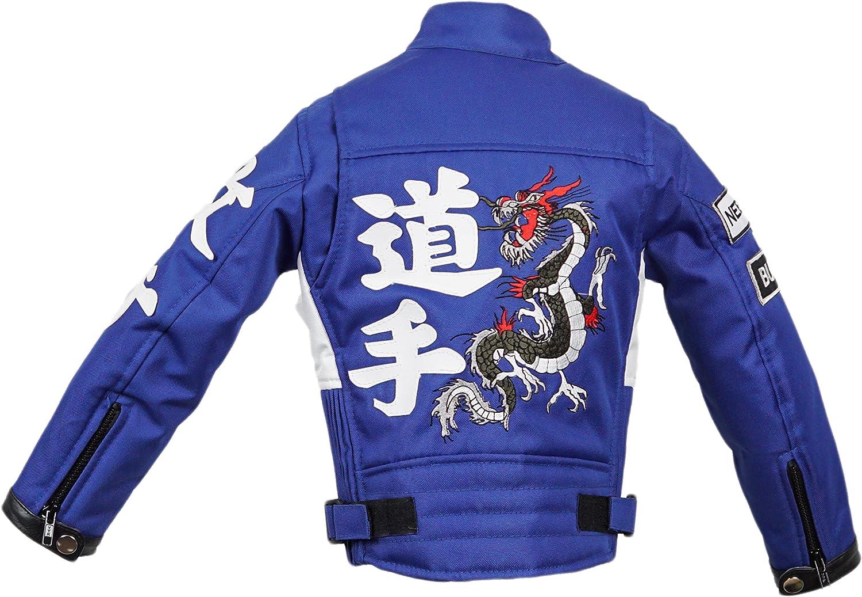 Mdm Kinder Motorradjacke In Blau Racer Jacke Bikerjacke Racingjacke Bekleidung