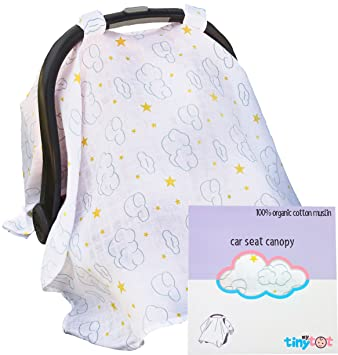 Best Baby Car Seat Covers For Girls Boys Free Washcloth Gift Organic Cotton