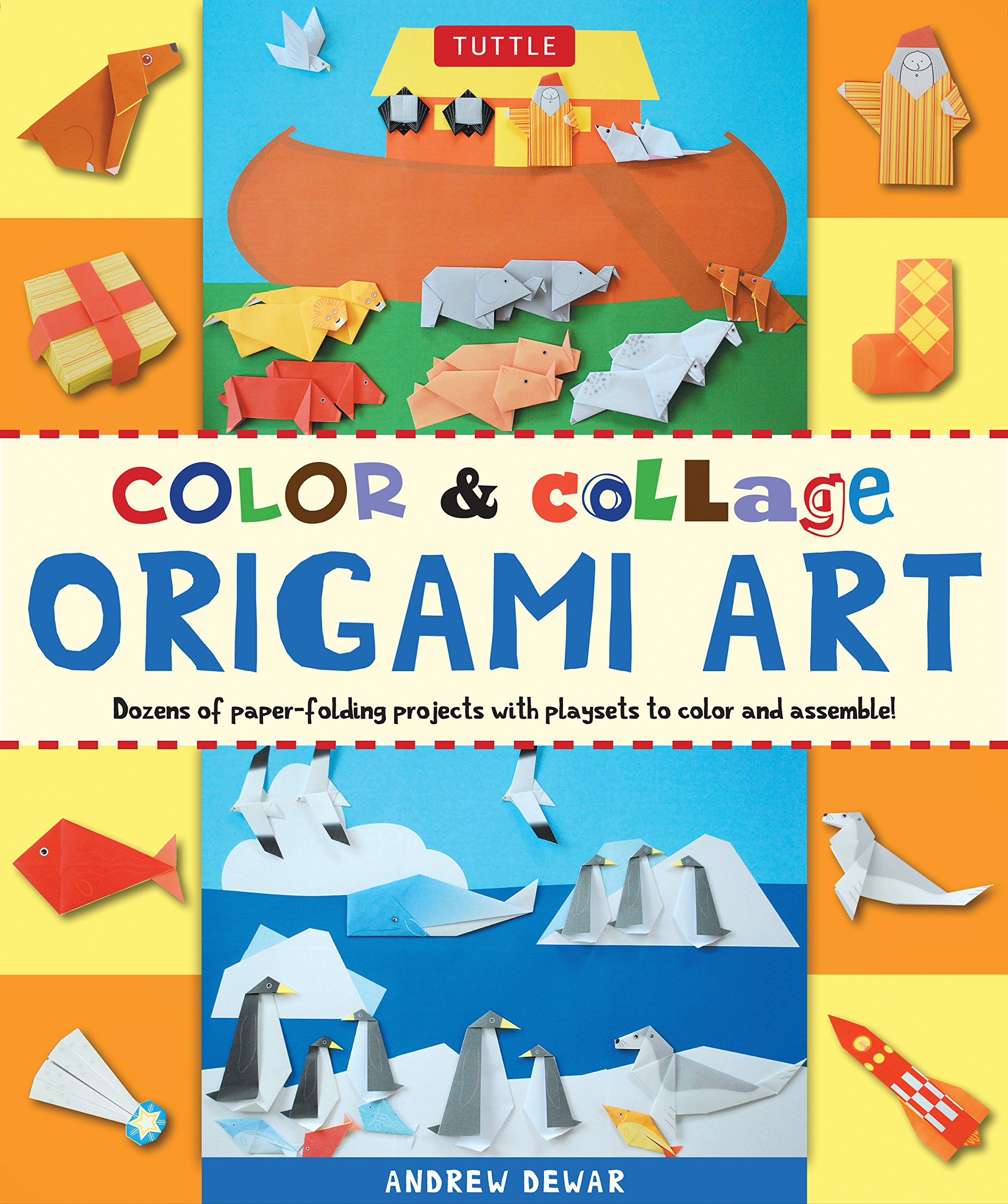 Color & Collage Origami Art Kit: Dozens of Paper-folding Projects With Playsets to Color and Assemble! by Tuttle Publishing