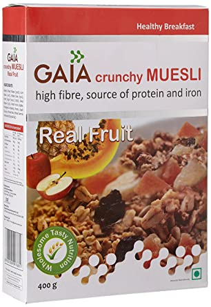 Gaia Real Muesli Frutas, 400 g: Amazon.com: Grocery ...
