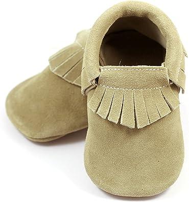 Children/'s Moccasins in Toddler Sizes 3 Layer Pressed Soft Sole Elk Hide Moccasins Hand Sewn Warm Fringe Mocs