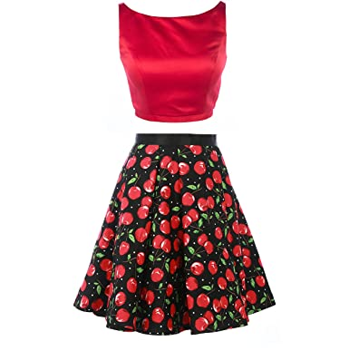 e5cd608f015 Ms.pretty 2 Pieces Women Red Prom Dress Short Party Holiday Date Dresses (2