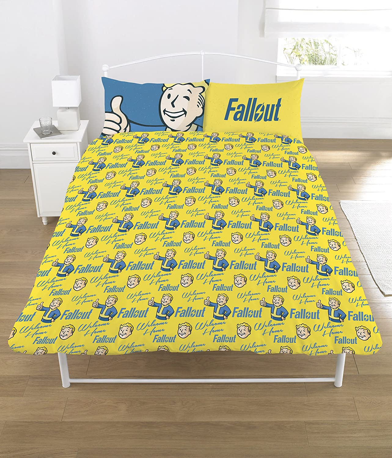Fallout Duvet Set Polycotton Multi Colour Double Amazon Co Uk